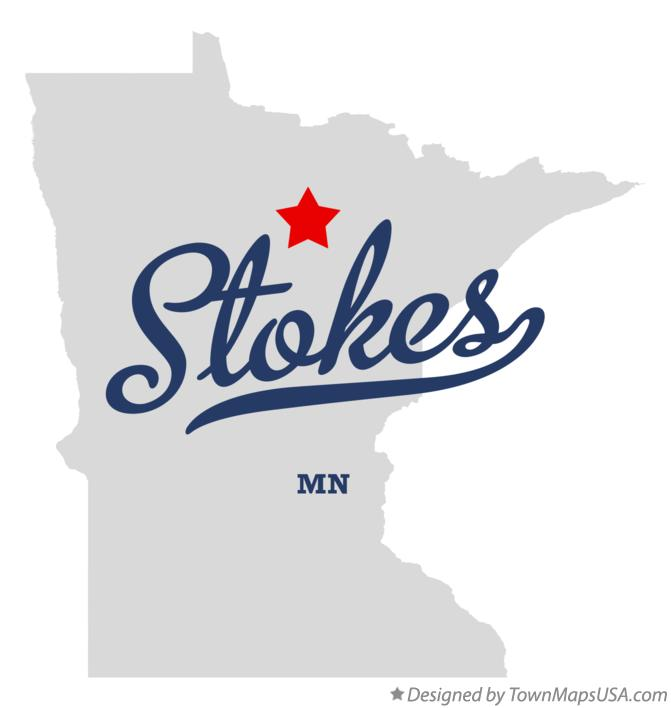 Map of Stokes Minnesota MN