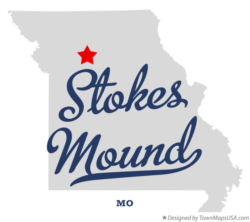 Map of Stokes Mound Missouri MO