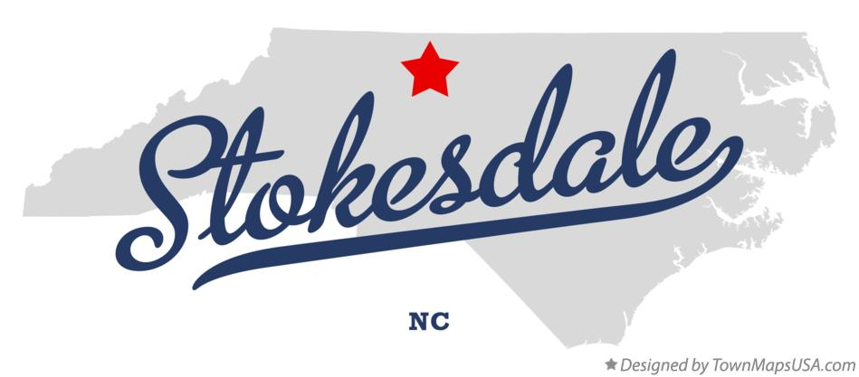 Map of Stokesdale North Carolina NC