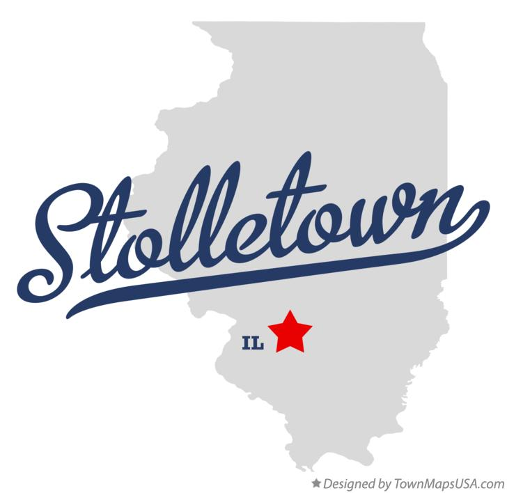 Map of Stolletown Illinois IL