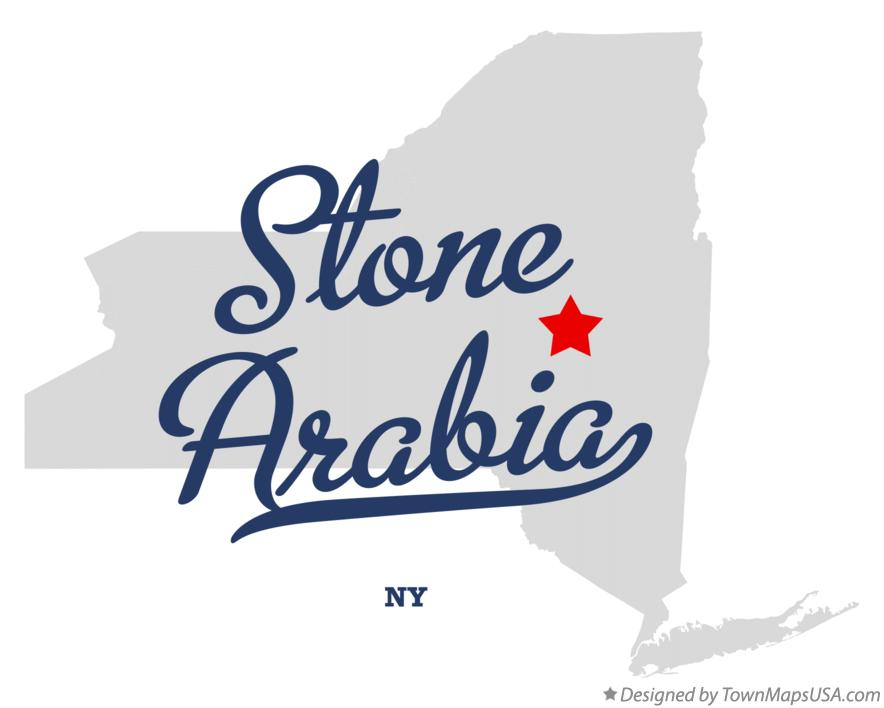 Map of Stone Arabia New York NY
