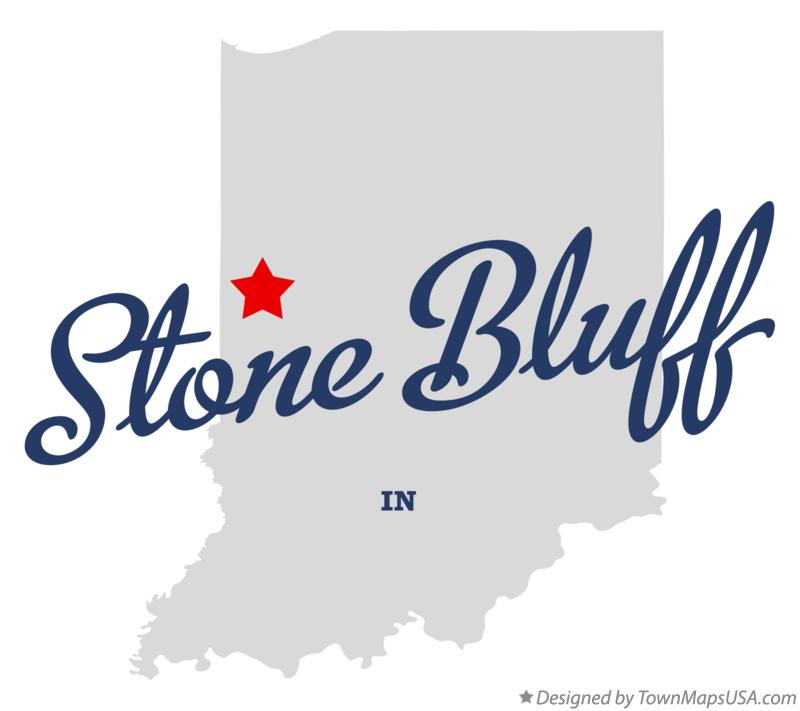 Map of Stone Bluff Indiana IN