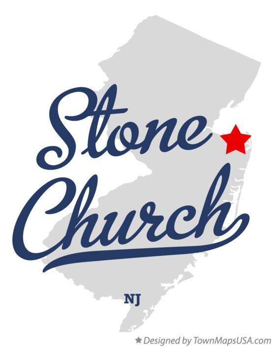 Map of Stone Church New Jersey NJ