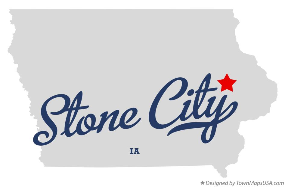 Map of Stone City Iowa IA