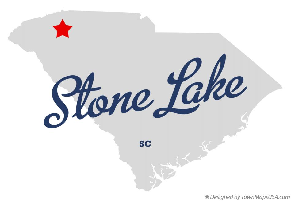 Map of Stone Lake South Carolina SC