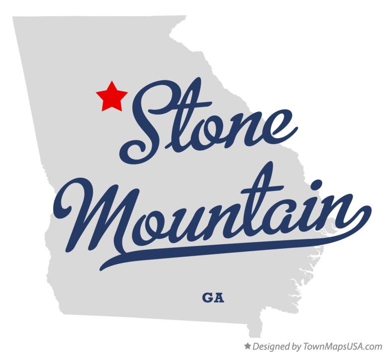 Map of Stone Mountain Georgia GA