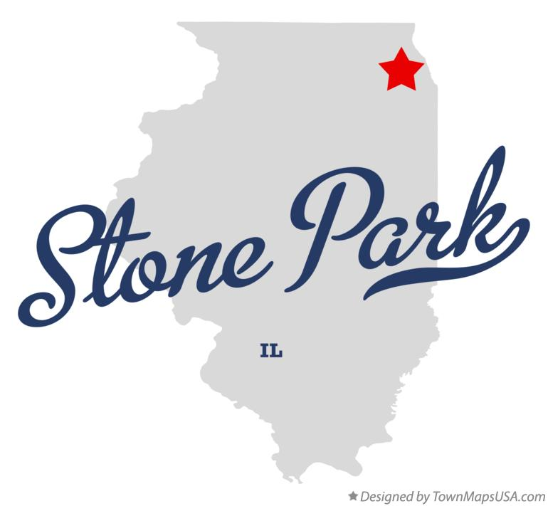 Map of Stone Park Illinois IL