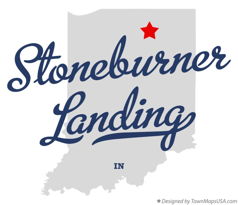 Map of Stoneburner Landing Indiana IN