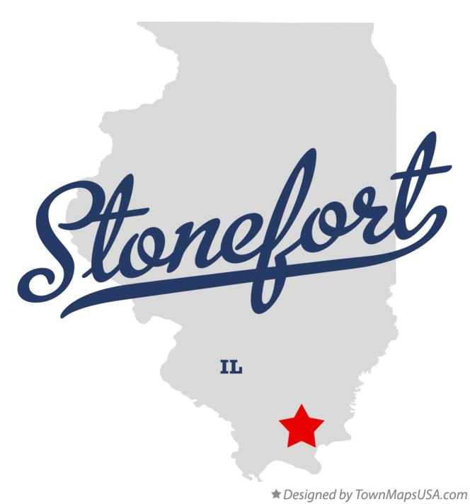 Map of Stonefort Illinois IL