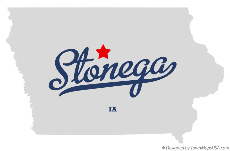 Map of Stonega Iowa IA