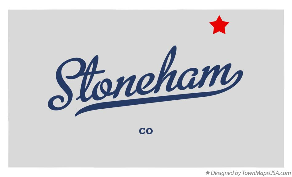 Map of Stoneham Colorado CO