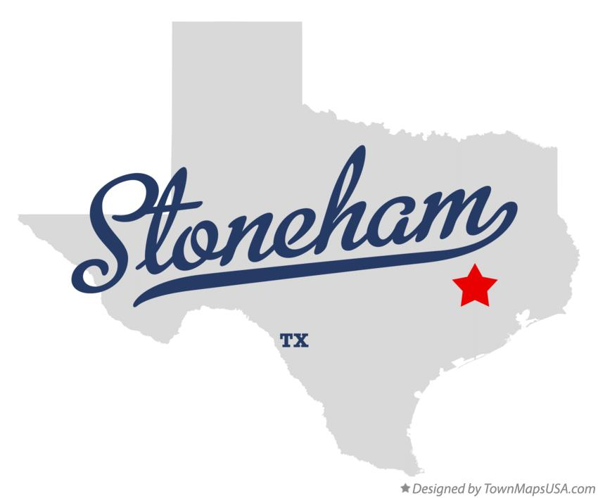 Map of Stoneham Texas TX