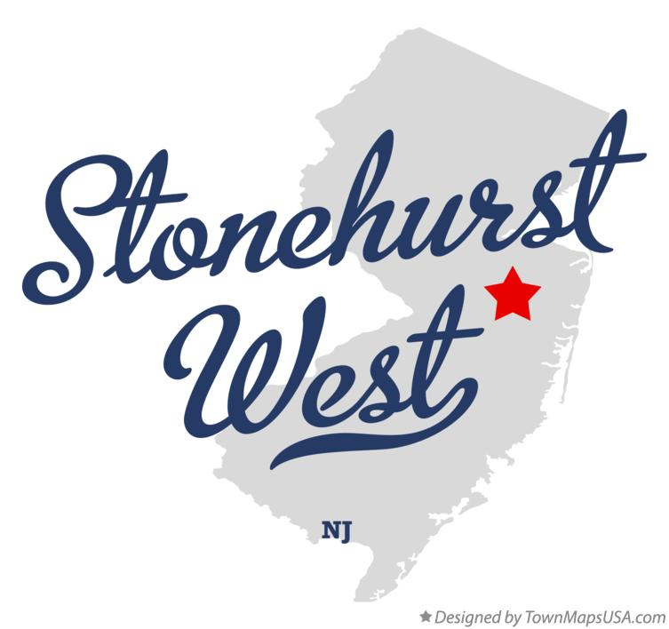 Map of Stonehurst West New Jersey NJ