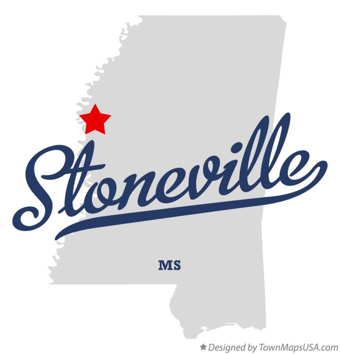 Map of Stoneville Mississippi MS