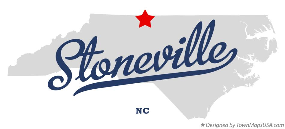 Map of Stoneville North Carolina NC