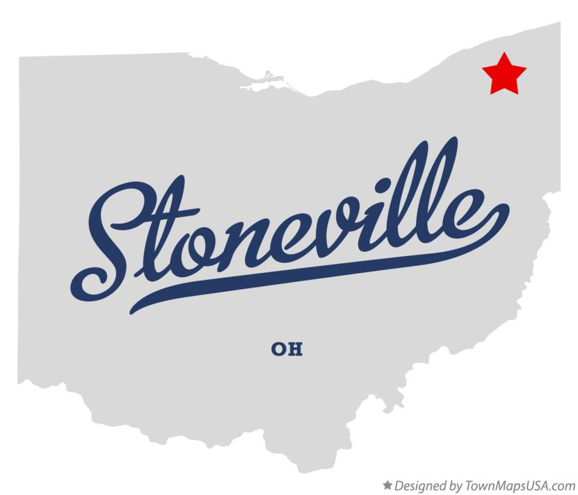 Map of Stoneville Ohio OH
