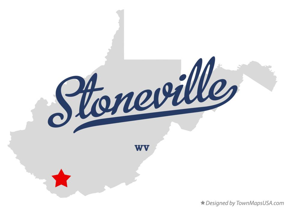 Map of Stoneville West Virginia WV