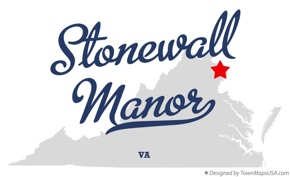Map of Stonewall Manor Virginia VA