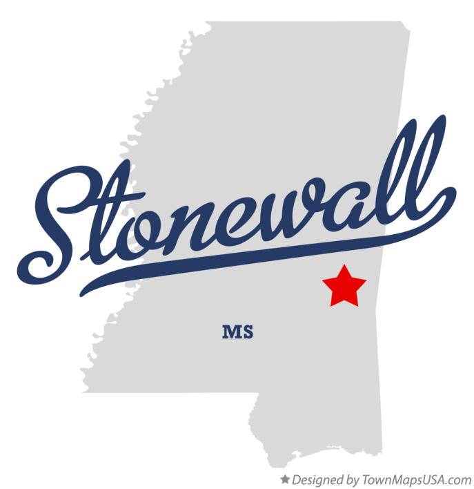 Map of Stonewall Mississippi MS