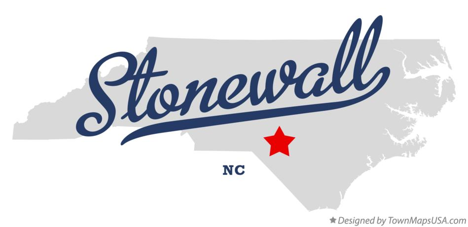 Map of Stonewall North Carolina NC
