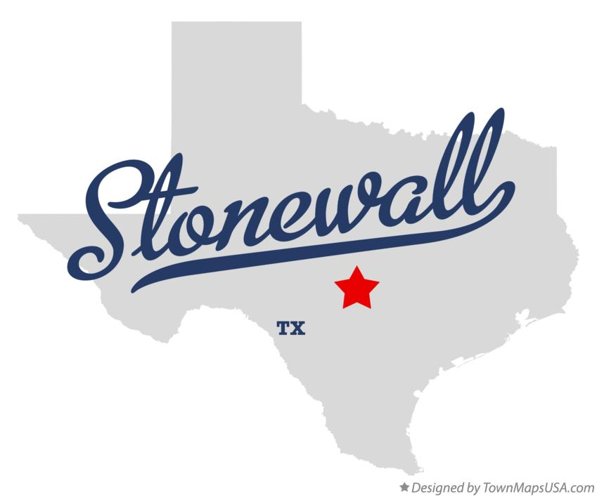 Map of Stonewall Texas TX