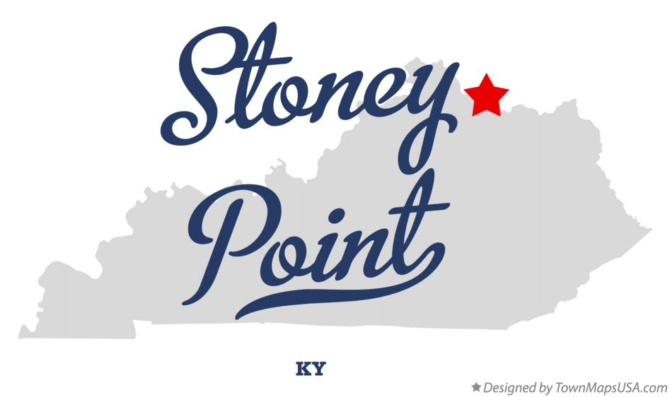 Map of Stoney Point Kentucky KY