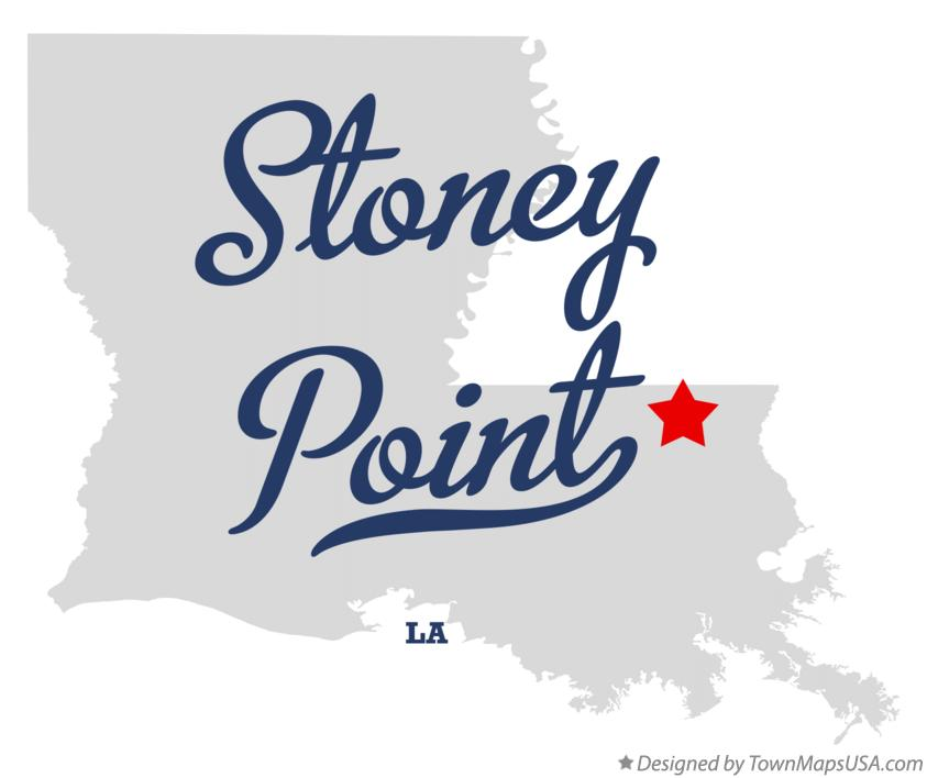 Map of Stoney Point Louisiana LA
