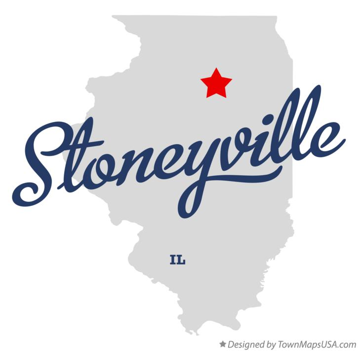 Map of Stoneyville Illinois IL
