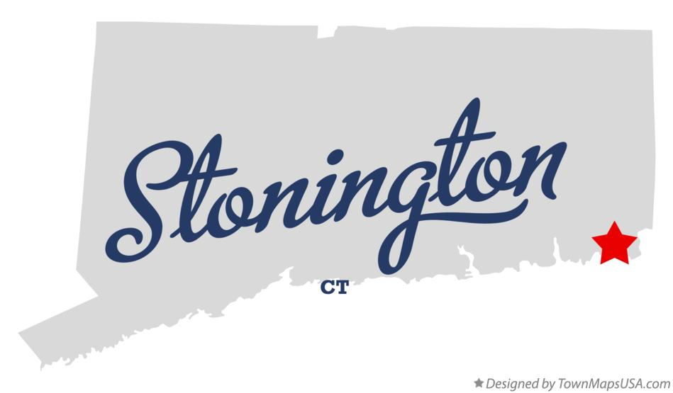 Map of Stonington Connecticut CT