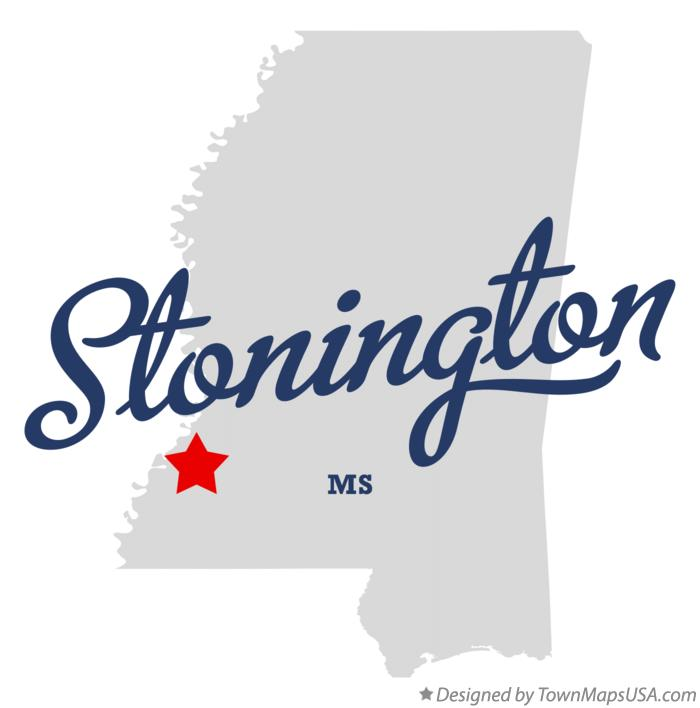 Map of Stonington Mississippi MS