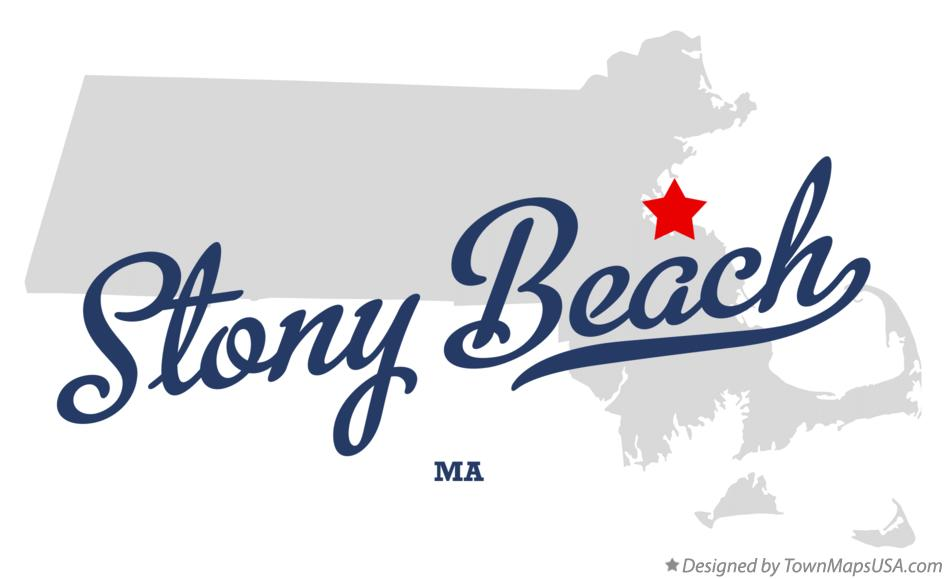 Map of Stony Beach Massachusetts MA