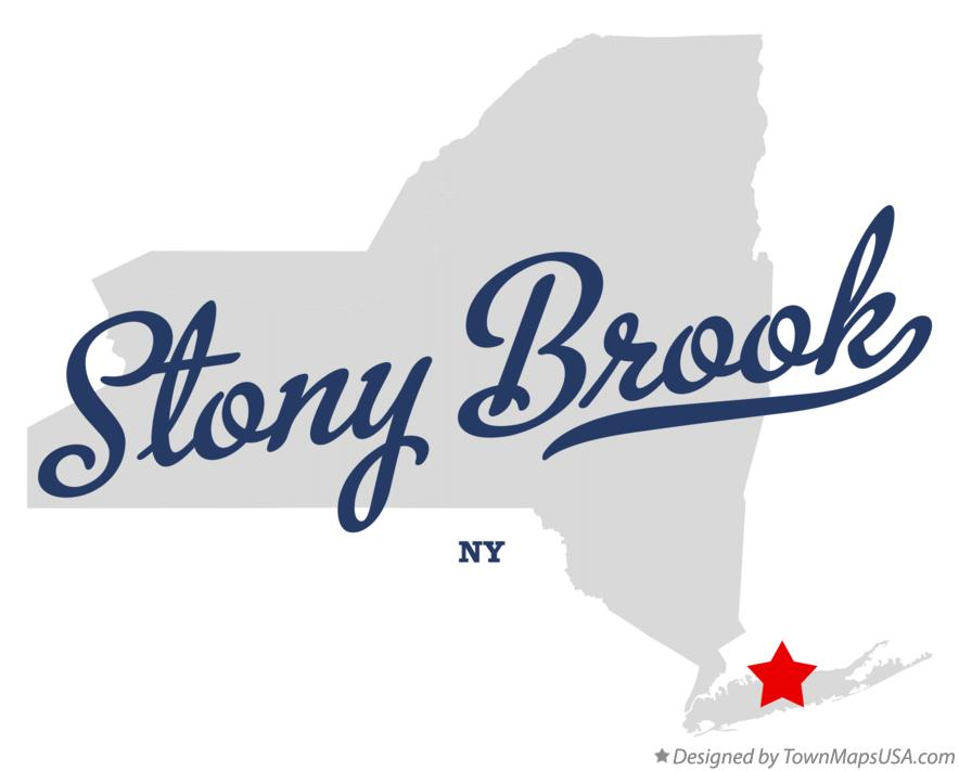 Map of Stony Brook New York NY