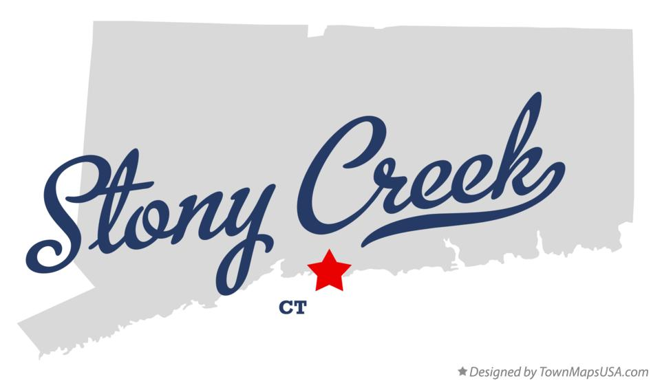 Map of Stony Creek Connecticut CT