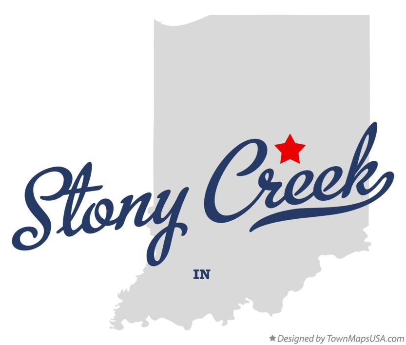 Map of Stony Creek Indiana IN