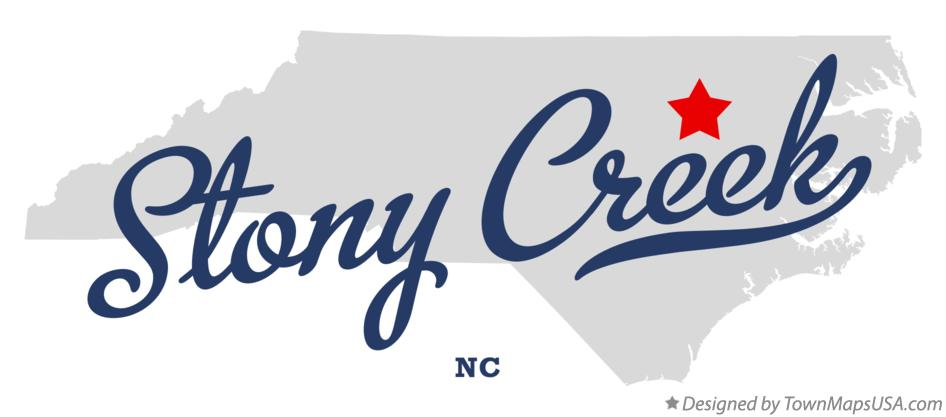 Map of Stony Creek North Carolina NC