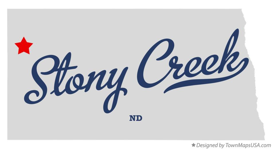 Map of Stony Creek North Dakota ND