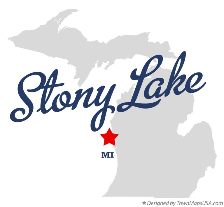 Map of Stony Lake Michigan MI