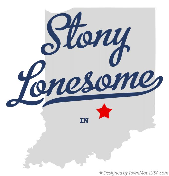 Map of Stony Lonesome Indiana IN