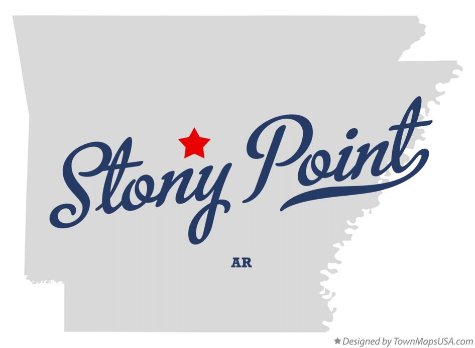 Map of Stony Point Arkansas AR
