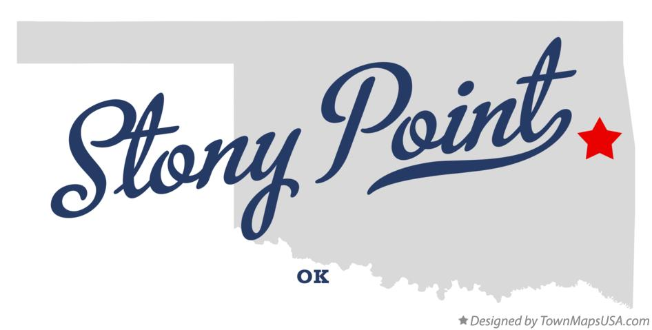 Map of Stony Point Oklahoma OK