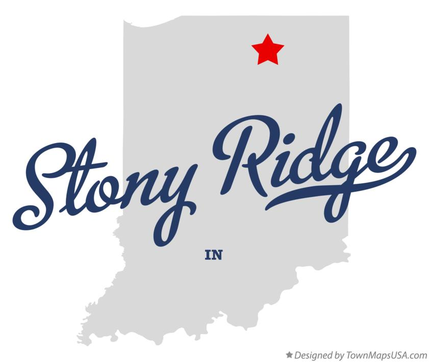 Map of Stony Ridge Indiana IN
