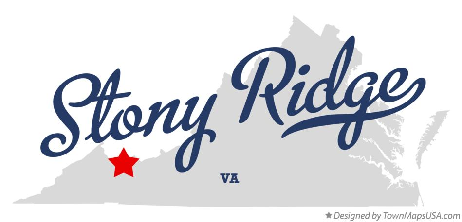 Map of Stony Ridge Virginia VA