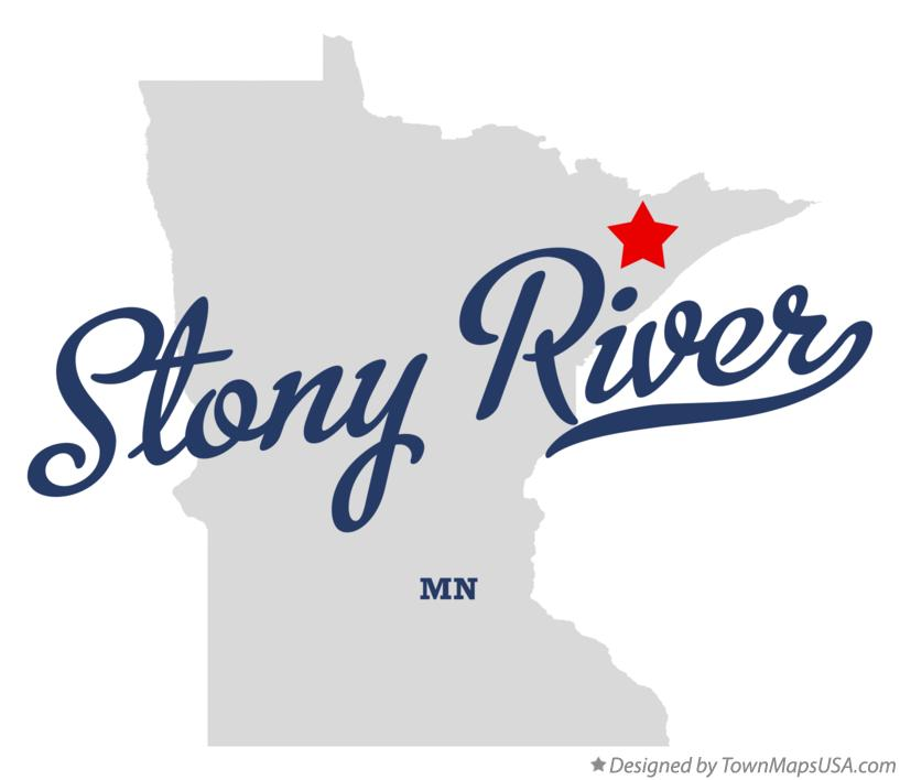 Map of Stony River Minnesota MN