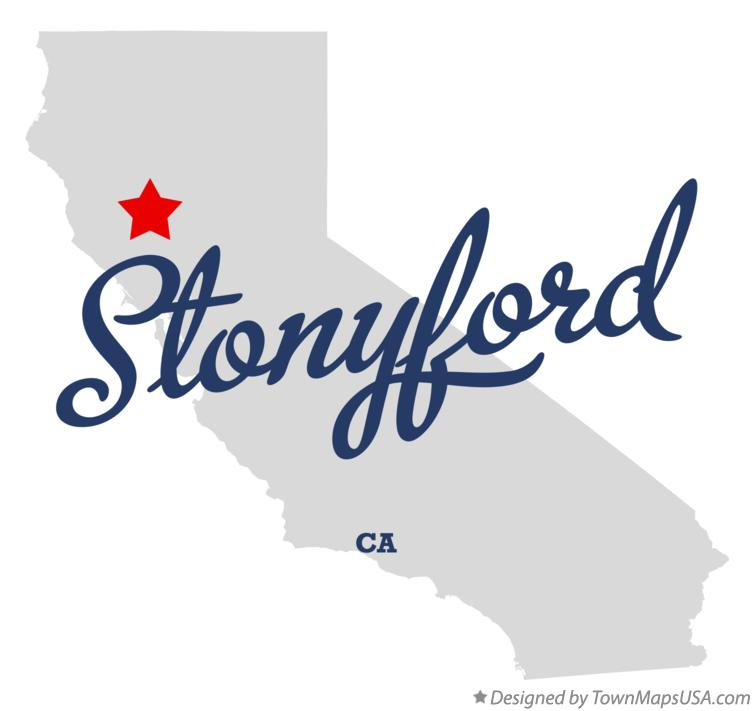 Map of Stonyford California CA
