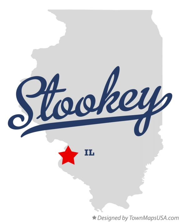 Map of Stookey Illinois IL