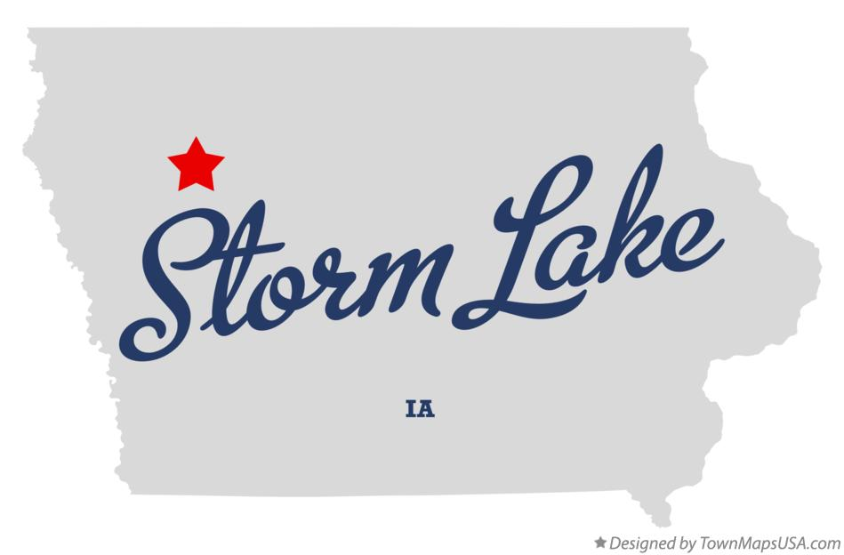 Map of Storm Lake Iowa IA