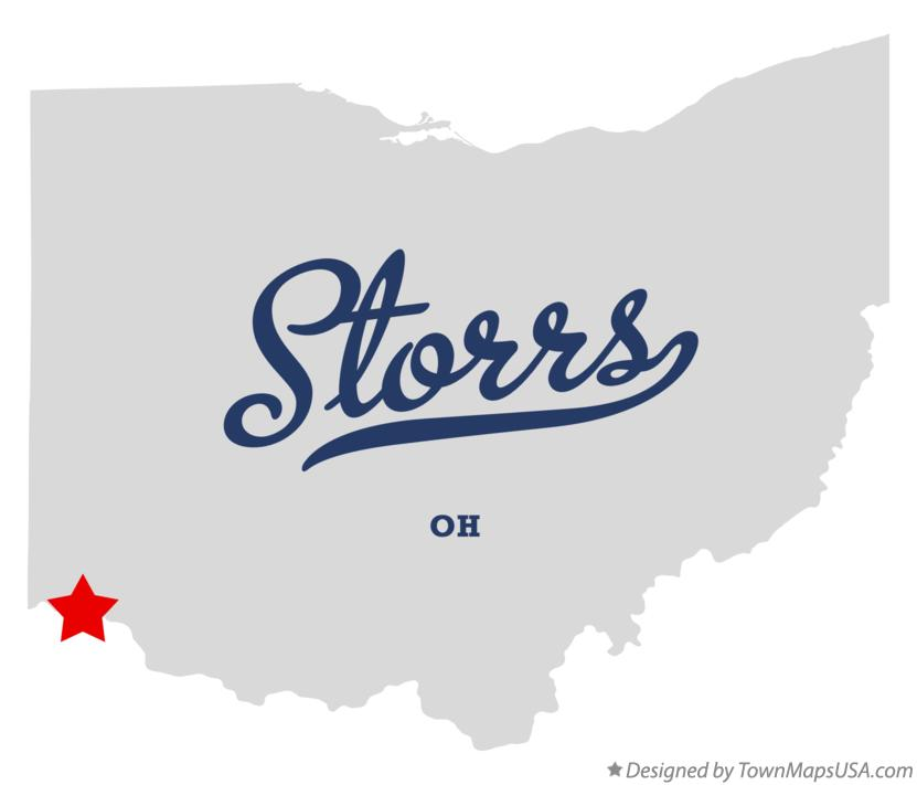 Map of Storrs Ohio OH