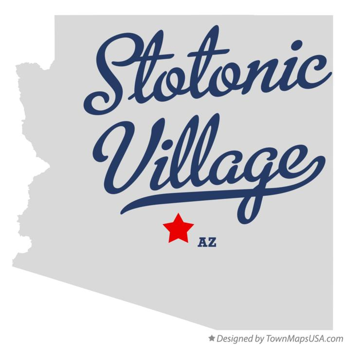 Map of Stotonic Village Arizona AZ
