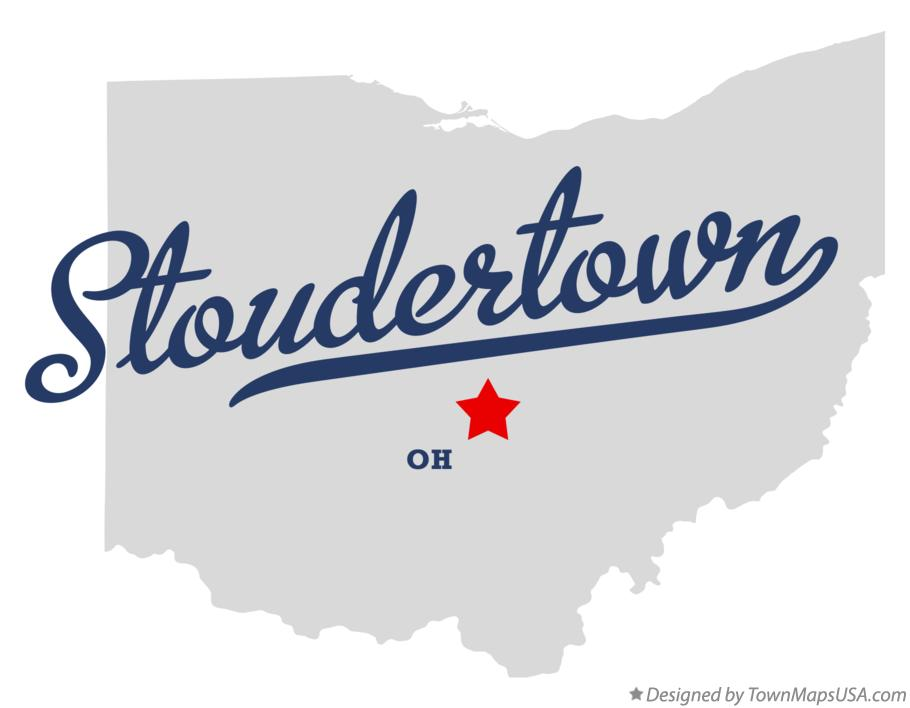 Map of Stoudertown Ohio OH