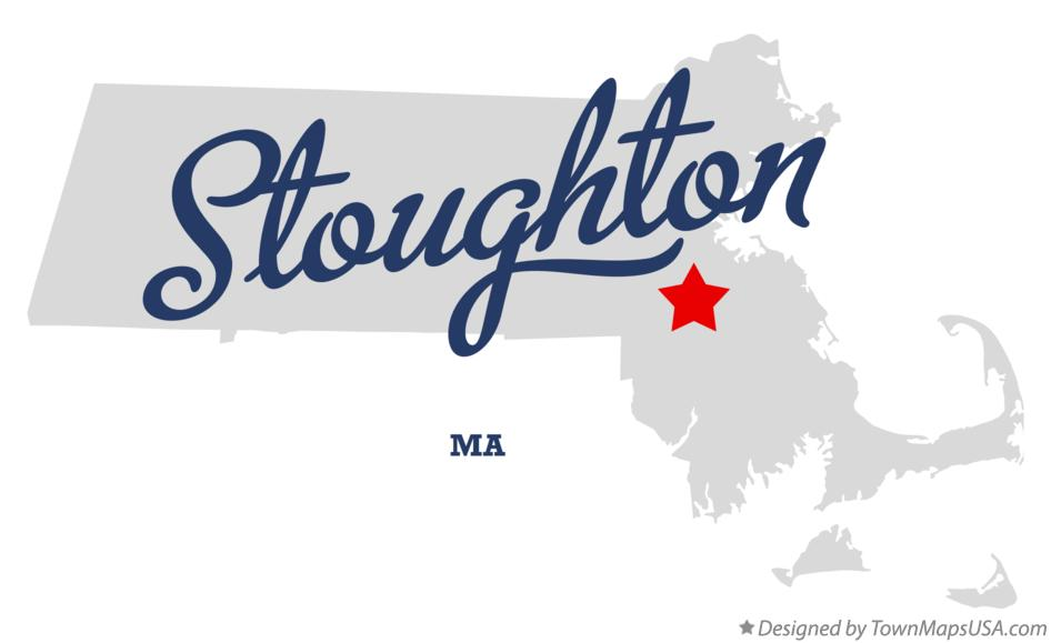 Map of Stoughton Massachusetts MA